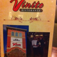 Photo taken at Vinito Ristorante by R,,,, B. on 5/4/2013