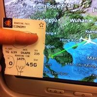 Photo taken at TG639 HKG-BKK / Thai Airways by R,,,, B. on 4/4/2013