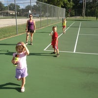 Photo taken at Tennis Courts-College Ave by Jeffrey D. on 9/2/2013