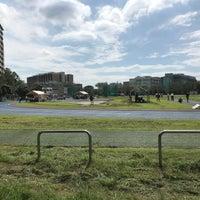 Photo taken at Nihon University Track and Field Stadium by Mikihiro I. on 9/23/2018