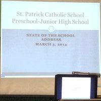 Photo taken at St Patricks Catholic School by Michael B. on 3/4/2014
