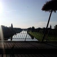 Photo taken at Pont-à-Celles by Oli L. on 8/20/2014