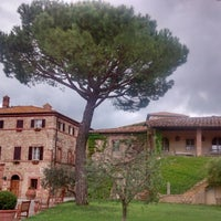 Photo taken at Borgo San Felice - Relais & Chateaux by Federico G. on 5/1/2014