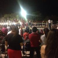 Photo taken at Parque central salina cruz by Juliin F. on 2/19/2017