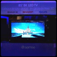 Photo taken at The Sharp Electronics Booth # 10916 by Albert E. on 1/8/2014