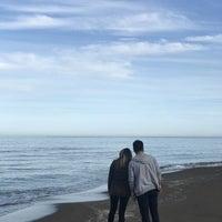 Photo taken at Efirli Plajı by Bhr O. on 12/3/2017