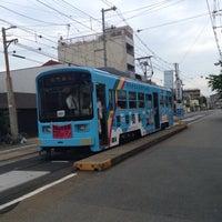 Photo taken at 上町線 北畠駅 by kazuhiro o. on 5/30/2015