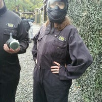 Photo taken at Delta Force Paintball - Upminster by Claire R. on 10/20/2012