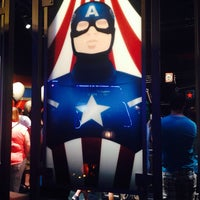Photo taken at Captain America: The Living Legend and Symbol of Courage by Mary P. on 4/8/2014