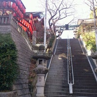 Photo taken at 市谷亀岡八幡宮 by R.Komatsu on 3/2/2013