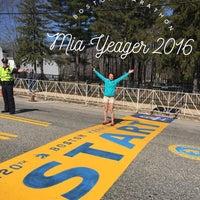 Photo taken at Boston Marathon Start Line by Rowena Y. on 4/18/2016