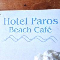 Photo taken at Hotel Paros Beach Cafe by Roman K. on 8/17/2013