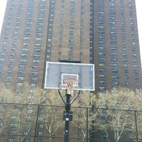 Photo taken at Rucker Park Basketball Courts by Luca Z. on 4/16/2017