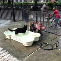 Photo taken at Tompkins Square Park Dog Run by Peter K. on 7/18/2013