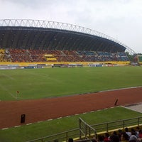 Photo taken at Stadion Gelora Sriwijaya (GSJ) by Devi A. on 1/5/2013