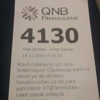 Photo taken at QNB Finansbank by Melek K. on 11/14/2016