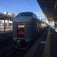 Photo taken at 上諏訪駅 1番線ホーム by myuka . on 1/2/2017