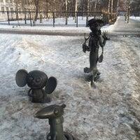 Photo taken at Скульптуры Чебурашка, Крокодил Гена и Шапокляк by Katerina T. on 2/21/2015
