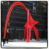 Photo taken at Alexander Calder's Flamingo Sculpture by minty on 10/31/2012