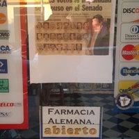 Photo taken at Farmacia Alemana by Claudio Gusti R. on 12/17/2013