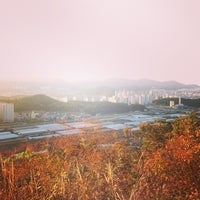 Photo taken at 도솔산 정상 by Byung Ju L. on 11/3/2014