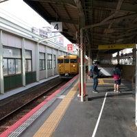 Photo taken at 松江駅 3-4番ホーム by Tatsuya F. on 3/1/2017