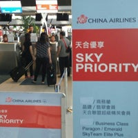 Photo taken at China Airlines (CI) Check-In Area by Tatsuya F. on 2/10/2016