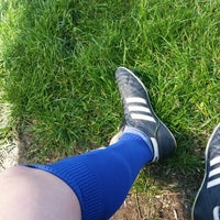 Photo taken at stadion andrasesti by Paul A. on 4/23/2016