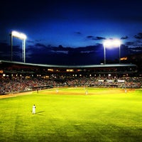 Photo taken at Bragan Field at the Baseball Grounds of Jacksonville by Lauren B. on 5/10/2013