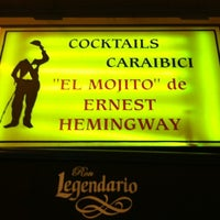 Photo taken at La Bodeguita del Medio by Pontix on 12/8/2012