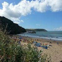 Photo taken at Tresaith Beach by Christine H. on 7/30/2013
