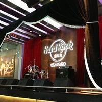 Photo taken at Hard Rock Cafe Santiago by Andrea V. on 1/22/2013