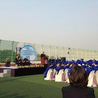 Photo taken at Korea International School by Gavin K. on 5/24/2013