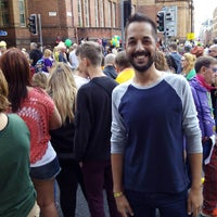 Photo taken at Manchester Pride by Rubén A. on 8/29/2015