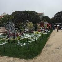 Photo taken at Jardin Public Biarritz by Jean G. on 10/30/2016