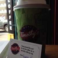 Photo taken at Timothy's World Coffee by Lucas P. on 10/11/2013