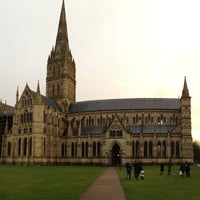 Photo taken at Salisbury Cathedral by Nihan Y. on 12/29/2012