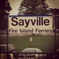 Photo taken at LIRR - Sayville Station by William K. on 8/18/2013
