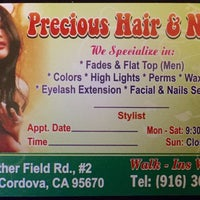 Photo taken at Precious Hair & Nails by Jaqueline G. on 10/28/2015