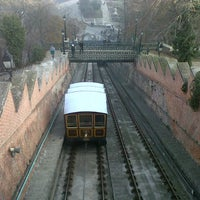 Photo taken at Buda Castle Hill Funicular by Cristina D. on 12/31/2012