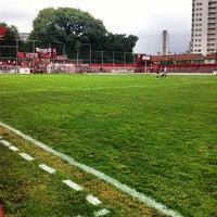 Photo taken at Estádio Conde Rodolfo Crespi by Werner F. on 2/13/2013