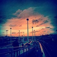 Photo taken at RER Stade de France Saint-Denis [D] by Aurélia S. on 9/25/2012