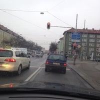 Photo taken at Giesinger Bahnhofsplatz by Sinan & Sinan on 12/20/2013