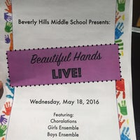 Photo taken at Beverly Hills Middle School by Angela J. on 5/18/2016