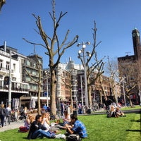 Photo taken at Rembrandtplein by Fikriye S. on 4/24/2013