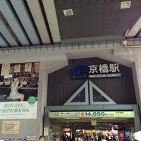 Photo taken at JR Kyobashi Station by muragin1029 on 6/13/2013