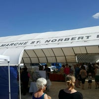 Photo taken at Le Marché St. Norbert Farmer's Market by Ben R. on 5/21/2016