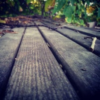 Photo taken at On a Bench By The River by Ben R. on 10/4/2013