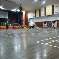 Photo taken at Calvary Church Badminton Court by Jiun J. on 7/30/2014