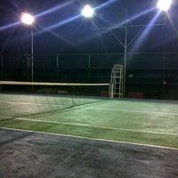 Photo taken at Lapangan Tenis P & K Plus by Yudo A. on 2/11/2013